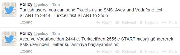 twitter sms